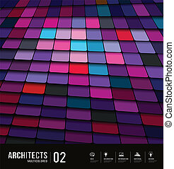 Architects abstract purple tiles
