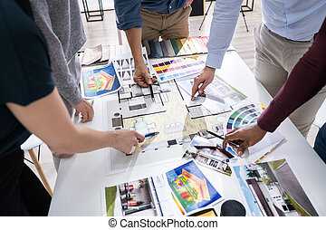 Designers Working On Color Selection For House