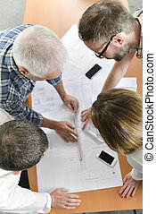 Architects in a group meeting