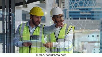 Architects pointing 4k