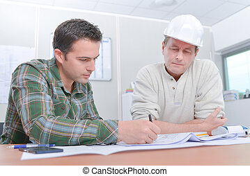 Architects working on the same project