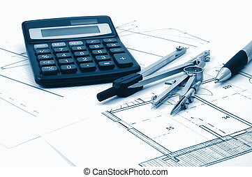 architectur plans of residential real estate