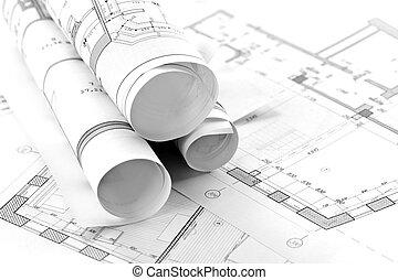 architecturaal, plan, deel