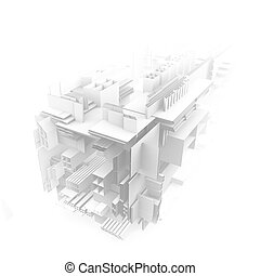 architectural abstract 3d rendering