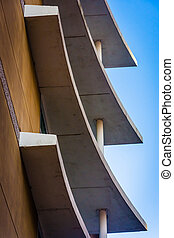 Architectural abstract in downtown Wilmington, Delaware.