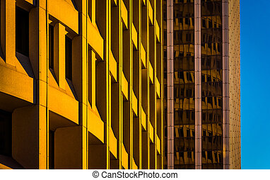 Architectural abstract taken in downtown Wilmington, ...