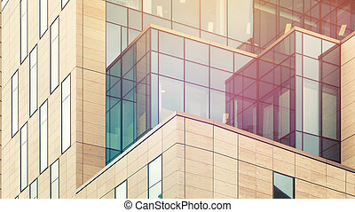 Architectural abstract with warm light