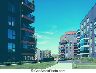 Architectural apartment building complex