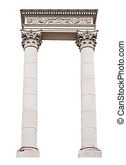 architectural arch columns on a white background