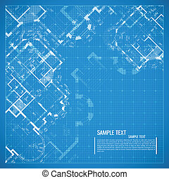 Architectural background. - Abstract vector illustration in...