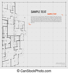 Architectural background. - Abstract vector illustration in ...