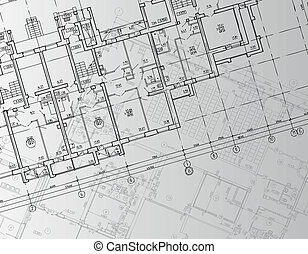 Architectural background drawing technical letters -...