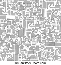 Architectural background from houses. A vector illustration
