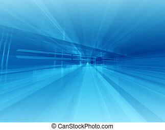 Architectural blue - Dynamic interrior motion background...