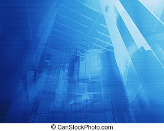 Architectural blue - Hi-tech architecture - backdrop.