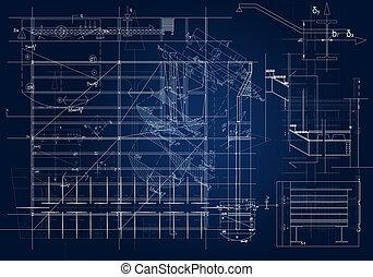 Architectural blueprint - frontal architectural blueprint....