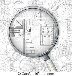 Blueprint icon simple flat illustration of architectural architectural blueprint malvernweather Gallery