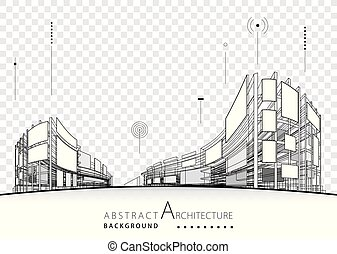 Architectural Building Design Abstract Background