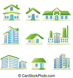 Architectural Building - illustration of set of...