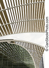 Architectural Ceiling Structure Perspective
