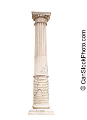 architectural column isolated on a white background