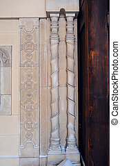 architectural columns, element of the old church