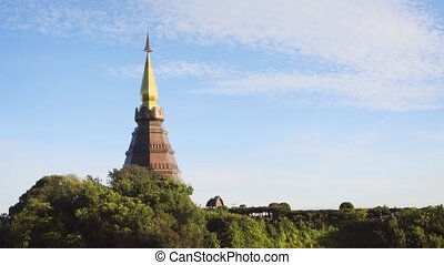 Beautiful architectural complex on top of the mountain on Doi Inthanon. Thailand