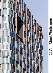 architectural detail of a skyscraper or a highrise condominium