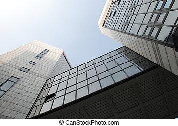 Detail of modern build in Milan, Italy