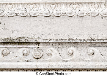 Architectural detail from the ornate exterior of Il Vittoriano