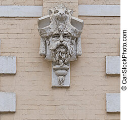 Architectural detail of a building.