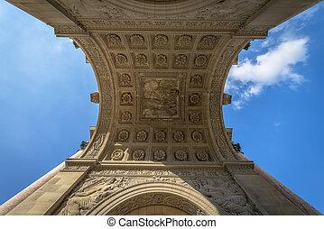 Architectural Detail of Arc de Triomphe du Carrousel