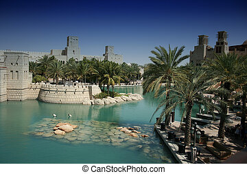 Dubai, United Arab Emirates - Architectural Detail of Dubai,...