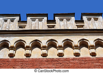 Architectural detail of old building in Petergof