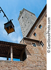 Architectural detail of San Gimignano
