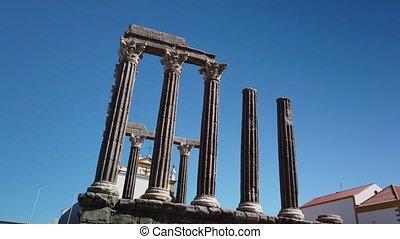 Roman temple of Evora - Architectural detail of the Roman...