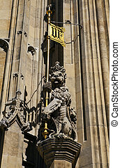 Architectural Detail on the Houses of Parliament in London
