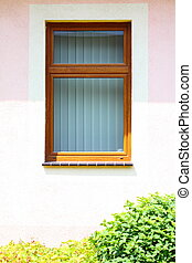 architectural detail view of a modern window