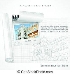 Architectural detailed plan on paper