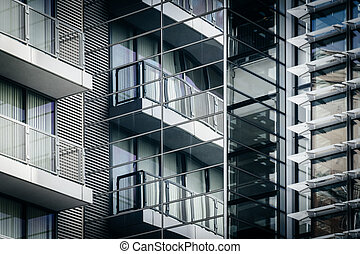 Architectural details of a modern building in Washington, DC.