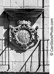 Architectural details of Altamira Palace in Elche, Spain