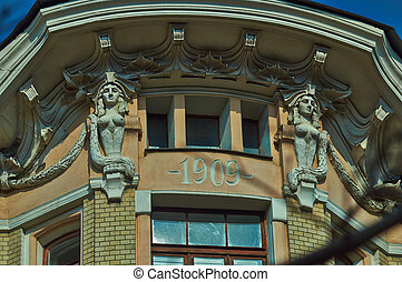 Architectural details of building .