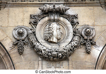Architectural details of Opera National de Paris: Bach