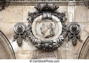 Architectural details of Opera National de Paris: Cimarosa