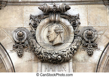 Architectural details of Opera National de Paris: Haydn