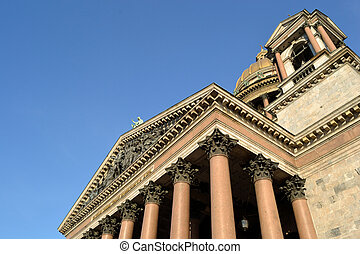Architectural details of St. Isaac's Cathedral