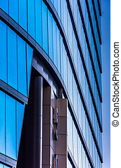 Architectural details of the modern WSFS Bank building in ...