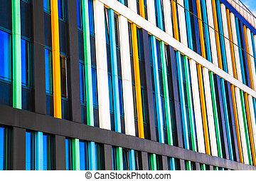 Architectural details on modern building