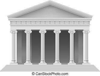 Architectural element - Big Portico an ancient temple. ...
