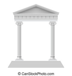 Architectural element - Simple Portico an ancient temple. ...